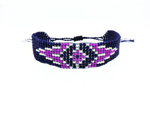 Colorful Beads Eye Bracelet 9 / White Wrap Bracelets