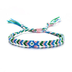 Colorful Braided Tassel Friendship Bracelets CS19062208A6 Pulseras de amuleto