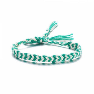 Colorful Braided Tassel Friendship Bracelets Green Pulseras de amuleto