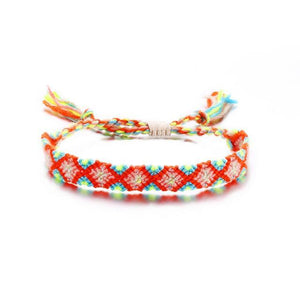 Colorful Braided Tassel Friendship Bracelets Orange Pulseras de amuleto
