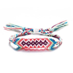 Colorful Braided Tassel Friendship Bracelets Pink Pulseras de amuleto