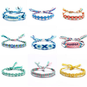 Colorful Braided Tassel Friendship Bracelets Pulseras de amuleto