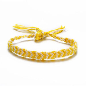 Colorful Braided Tassel Friendship Bracelets Yellow Pulseras de amuleto