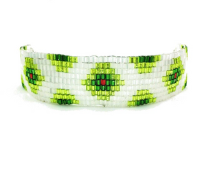 Colorful Glass Beads Friendship Bracelets in 4 Colors Green Wrap Bracelets