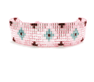 Colorful Glass Beads Friendship Bracelets in 4 Colors Pink Wrap Bracelets