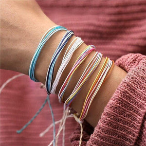 Colorful Thread Friendship Bracelets Multicolor Inicio