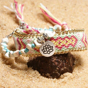 Colorful Tribal Beach Anklets/Bracelets 01 / Multicolor Anklets