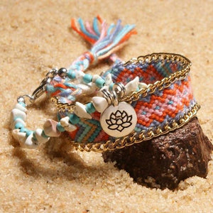 Colorful Tribal Beach Anklets/Bracelets 02 / Multicolor Anklets