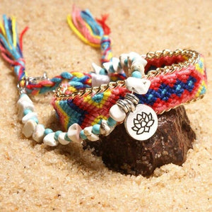 Colorful Tribal Beach Anklets/Bracelets 03 / Multicolor Anklets