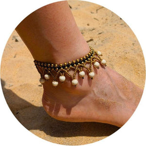 Colorful Tribal Beach Anklets/Bracelets 21 / White Anklets