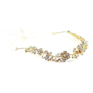 Crystal Vines Headpiece Gold Women - Accessories - Hair Accessories