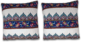 "DaDa Bedding Set of Two Bohemian Earthy Meadow Throw Pillow Covers, 18"" x 18"", 2-PCS (160553-9-CC) Home - Pillows & Throws"