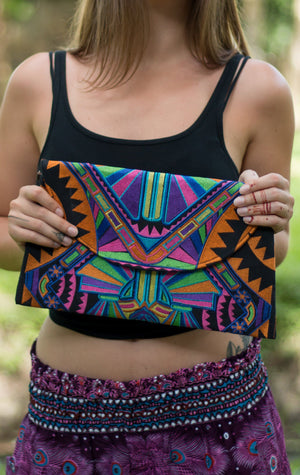 Dawn Tribal Oversized Clutch Bags