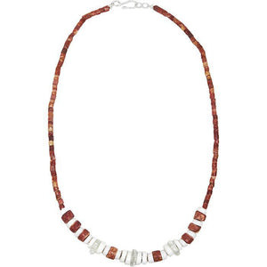 Down to Earth Necklace White (GC) Ghanaian Collection