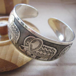 Elephant Love Cuff Bangle