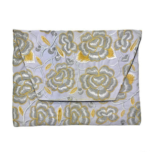 Embroidered Flower Clutch Rose Women - Bags - Clutches & Evening