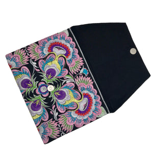 Embroidered Flower Clutch Women - Bags - Clutches & Evening