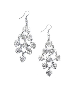 Falling Leaves Earrings - Silvertone  (GC) Earrings
