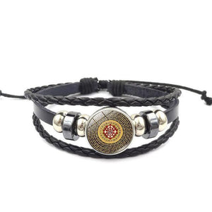 Fashion Vintage Sri Yantra Bracelet Men Women Braided Leather Weave Handmade Rope Charm Bracelets & Bangles style5 Charm Bracelets