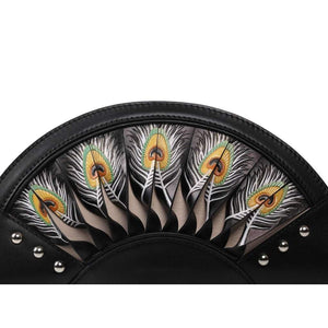 Feather Black Crossbody Clutch Women - Bags - Clutches & Evening