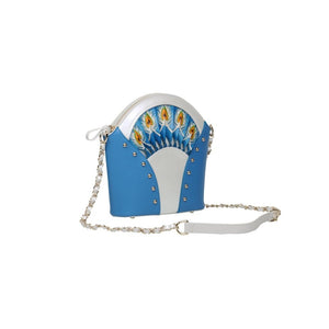 Feather Blue Shoulder Bag Women - Bags - Shoulder Bags