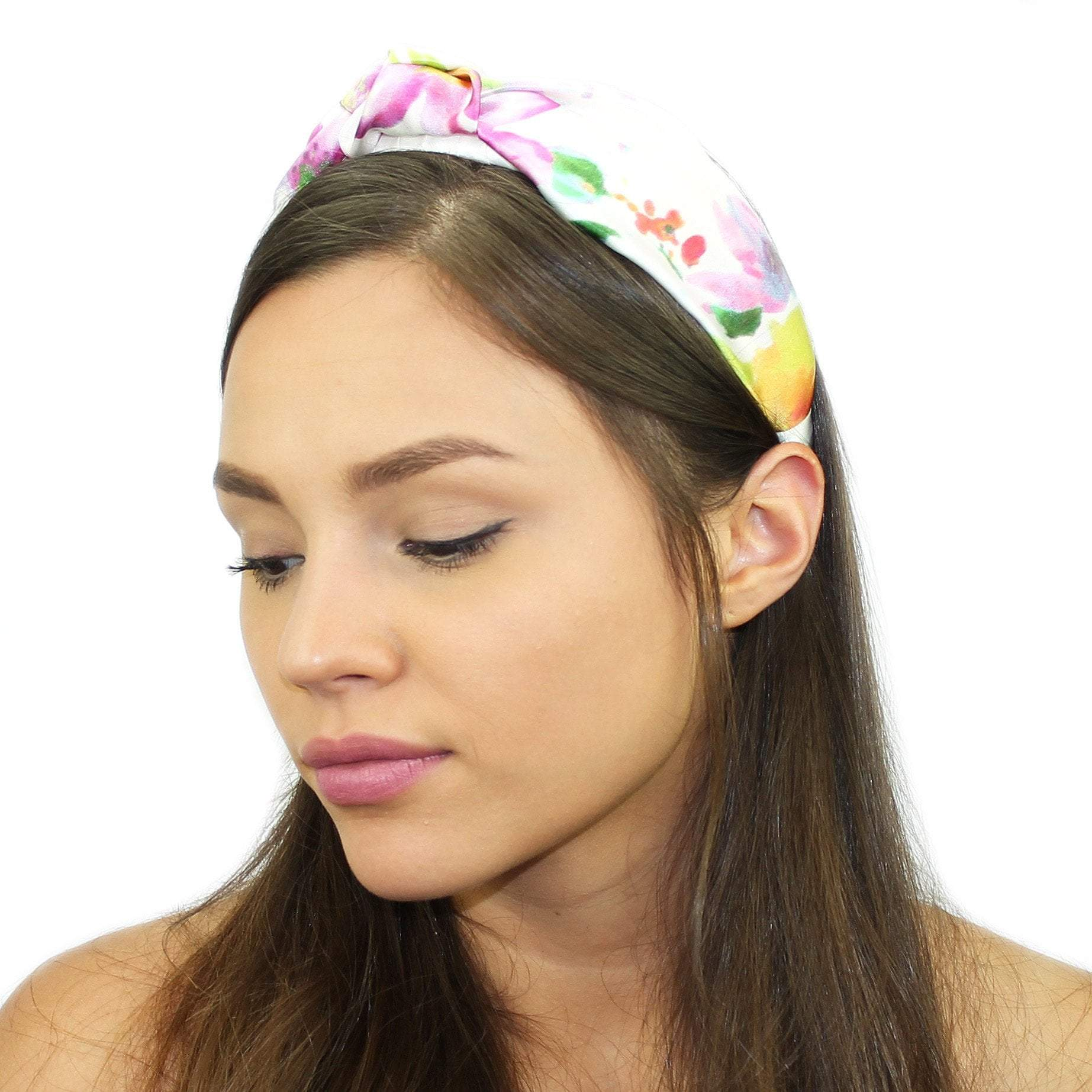 Floral Silk Top Knot Headband Floral Tie Dye Women - Accessories - Hair  Accessories 69554169fba
