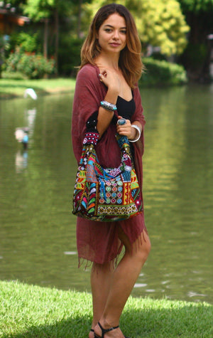 Flowerchild Patchwork Shoulder Bag Bags
