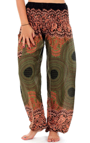 Forest Sunburst Honey Hive Harem Pants Harem Pants
