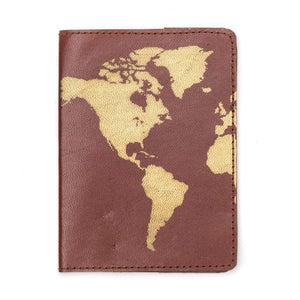 Globetrotter Leather Passport Cover - Brown (PC) Default Title Passport Cover