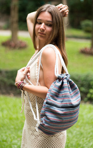 Globetrotter Stripe Backpack Bags