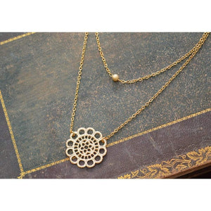 Gold double strand lace necklace Women - Jewelry - Necklaces