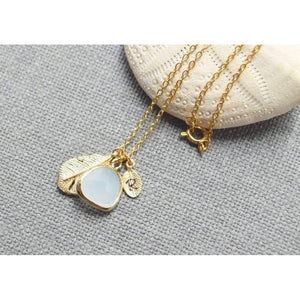 Gold personalized dangle mint drop necklace Women - Jewelry - Necklaces