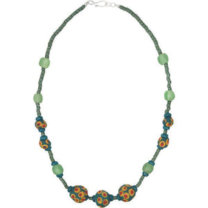 Grace Necklace in Moss (GC) Ghanaian Collection