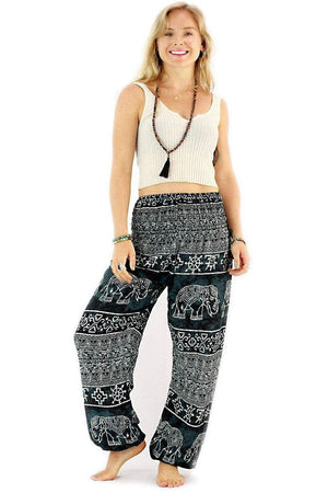 Gray Ancient Elephant Harem Pants Standard / Gray Harem Pants