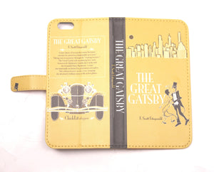 Great Gatsby phone flip case wallet for iPhone and Samsung Home - Electronics