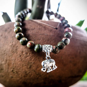 Green Elephant Bracelet - Wealth & Intelligence Women - Jewelry - Bracelets