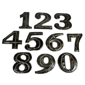 Haitian Metal House Number - Sold Individually  (GC) 0 Metal Wall Art