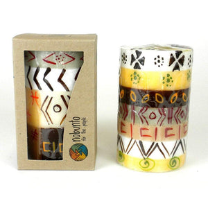 Hand Painted Candle - Single in Box - Akono Design (GC) Candles