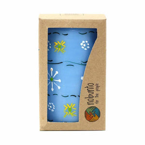 Hand Painted Candles in Blue Masika Design (pillar) Default Title Candles