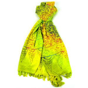 Handmade Sarong Yellow - Designs will Vary  (GC) Scarves