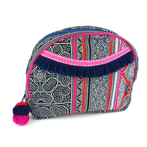 Hmong Batik Cosmetic Bag Indigo  (GC) Cosmetic bag