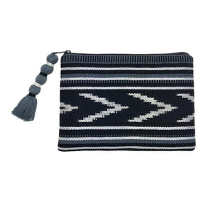 Ikat Backstrap Clutch Black + Slate Women - Bags - Clutches & Evening