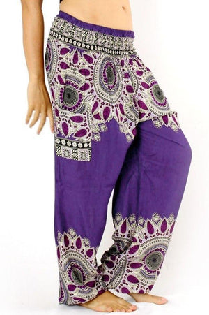 Indigo Purple Spirit Mandala Harem Pants Standard / Purple Harem Pants