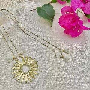 Indu Pendant Necklace White Women - Jewelry - Necklaces