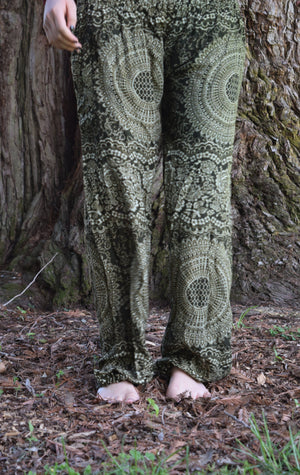 Jungle Green Honey Hive Harem Pants Harem Pants