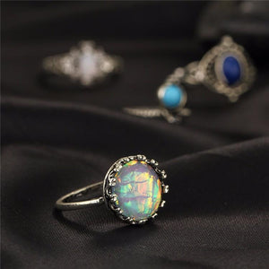 Lily Moonstone Boho Ring Set