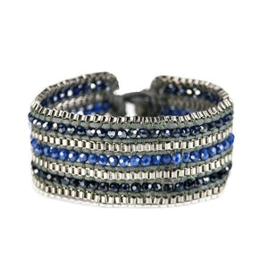 Looped  Bracelet-Sapphire Women - Jewelry - Bracelets