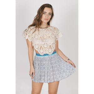 LOVE SPELL MINI SKIRT TURQUOISE / XS Women - Apparel - Skirts - Mini