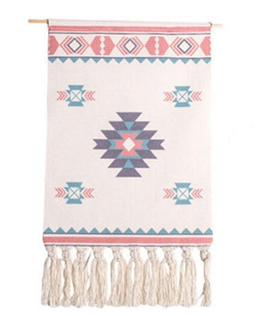 Macrame Tapestry with Tassels - Nordic Woven Tapestry Tapestry [100013777] Tapestry