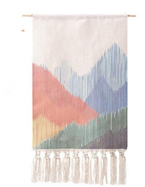 Macrame Tapestry with Tassels - Nordic Woven Tapestry Tapestry [1254] Tapestry